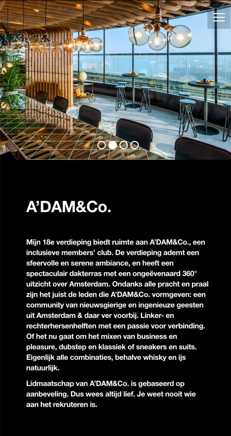 A'DAM Toren website - FrankGroet.nl